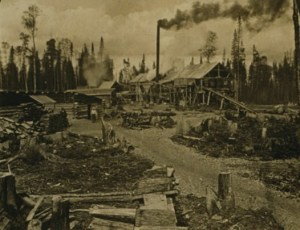 Logging camp in Concord, NH